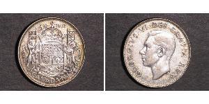50 Cent Canada Argento Giorgio VI (1895-1952)