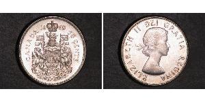 50 Cent Canada Argento Elisabetta II (1926-)