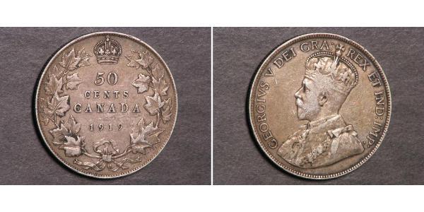 50 Cent Canada Argento Giorgio V (1865-1936)