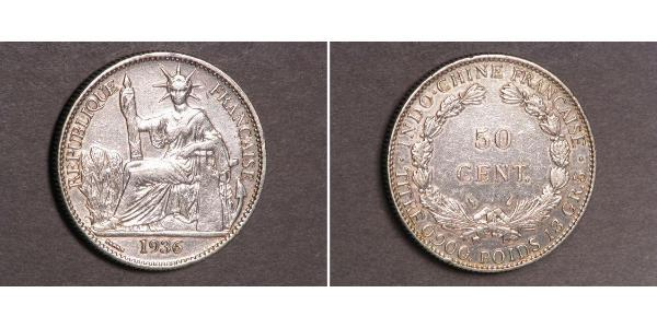 50 Cent French Indochina (1887-1954) Bronze/Nickel