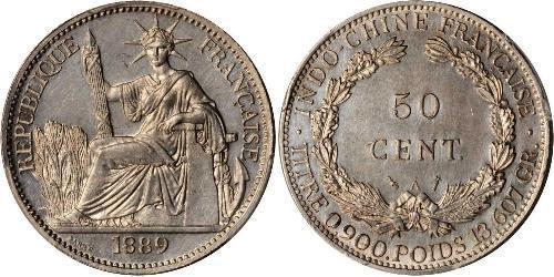 50 Cent Indocina francese (1887-1954) Bronzo/Nichel