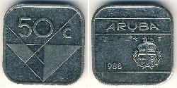 50 Cent Aruba Copper/Nickel