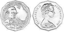 50 Cent Australia (1939 - ) Copper/Nickel Elizabeth II (1926-)