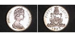 50 Cent Bermuda Copper/Nickel Elizabeth II (1926-)