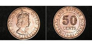 50 Cent Federation of Malaya (1948 - 1963) Copper/Nickel