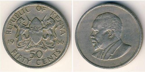 50 Cent Kenya Copper/Nickel
