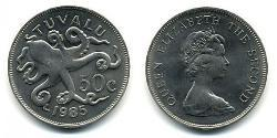 50 Cent Tuvalu Copper/Nickel