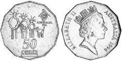 50 Cent Australien (1939 - ) Kupfer/Nickel Elizabeth II (1926-)