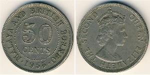50 Cent Föderation Malaya (1948 - 1963) Kupfer/Nickel