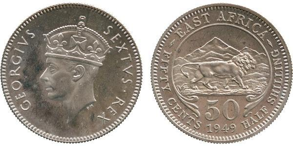 50 Cent Ostafrika Kupfer/Nickel