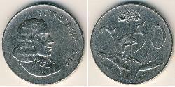 50 Cent Südafrika Kupfer/Nickel