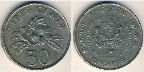 50 Cent Singapur Kupfer/Nickel