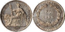 50 Cent Indochina francesa (1887-1954) Níquel/Bronce