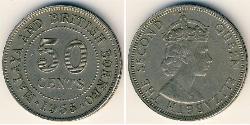 50 Cent Federación Malaya (1948 - 1963) Níquel/Cobre