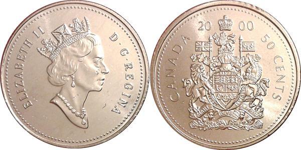 50 Cent Canada Nickel Elizabeth II (1926-)