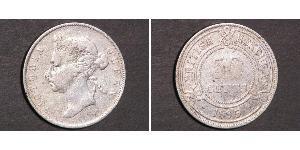 50 Cent British Honduras (1862-1981) Plata Victoria (1819 - 1901)
