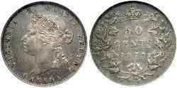 50 Cent Canadá Plata Victoria (1819 - 1901)