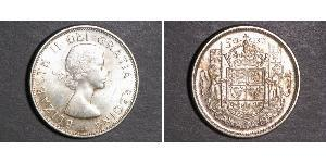 50 Cent Canadá Plata Isabel II (1926-)