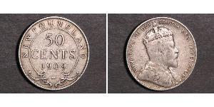 50 Cent Terranova y Labrador Plata Eduardo VII (1841-1910)