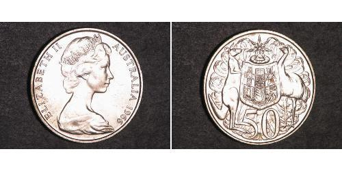 Münze 50 Cent Australien 1939 Silber 1966 Elizabeth Ii 1926