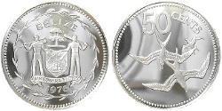 50 Cent Belize (1981 - ) Silber