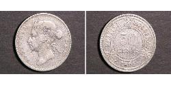 50 Cent British Honduras (1862-1981) Silber Victoria (1819 - 1901)