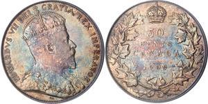 50 Cent Kanada Silber Eduard VII (1841-1910)