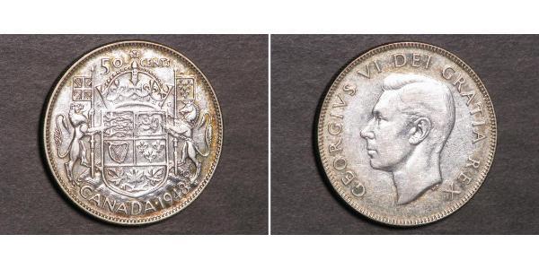 50 Cent Kanada Silber Georg VI (1895-1952)