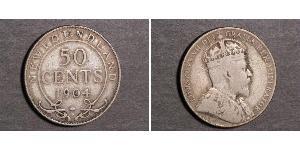 50 Cent Neufundland und Labrador Silber Eduard VII (1841-1910)