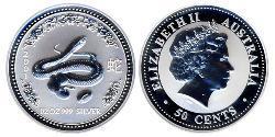 50 Cent Australia (1939 - ) Silver