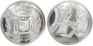 50 Cent Belize (1981 - ) Silver