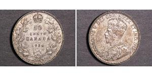 50 Cent Canada Silver George V of the United Kingdom (1865-1936)