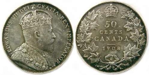 50 Cent Canada Silver Edward VII (1841-1910)