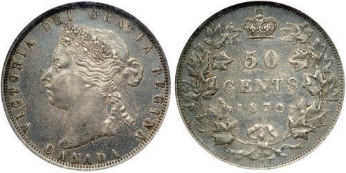 50 Cent Canada Silver Victoria (1819 - 1901)