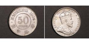 50 Cent Hong Kong Silver Edward VII (1841-1910)