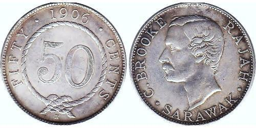 50 Cent Sarawak Silver
