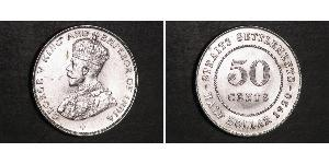 50 Cent Straits Settlements (1826 - 1946) Silver George V of the United Kingdom (1865-1936)