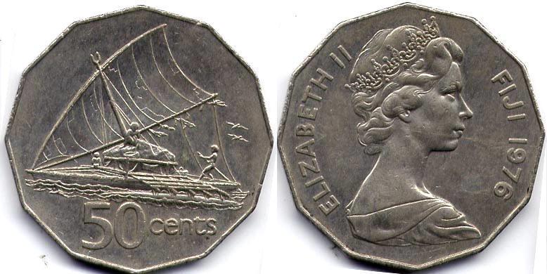 50 cent 1976 fiji elizabeth ii 1926 prices values - Coin de finition plinthe ...