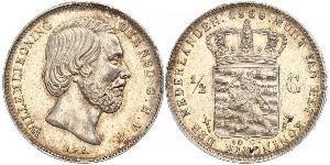 50 Cent / 1/2 Gulden Reino de los Países Bajos (1815 - ) Plata Guillermo III de los Países Bajos