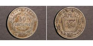 50 Centavo Costa Rica Argent