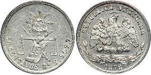 50 Centavo Mexique Argent