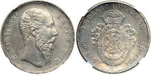 50 Centavo Second Empire mexicain (1864 - 1867) Argent Maximilian I of Mexico (1832 - 1867)
