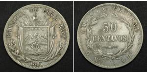 50 Centavo Costa Rica Argento