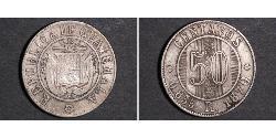 50 Centavo Guatemala Argento