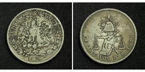 50 Centavo Messico Argento