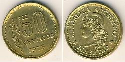 50 Centavo Argentine Republic (1861 - ) Brass