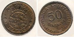 50 Centavo Portuguese Angola (1575-1975) Bronze