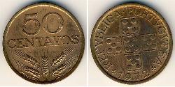 50 Centavo Second Portuguese Republic (1933 - 1974) Bronze