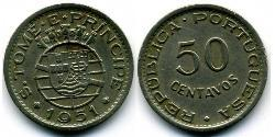 50 Centavo São Tomé and Príncipe (1469 - 1975) Copper/Nickel/Zinc