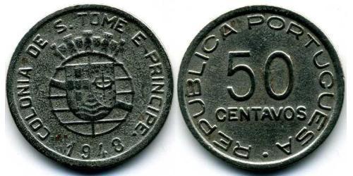 50 Centavo São Tomé and Príncipe (1469 - 1975) Copper/Zinc/Nickel